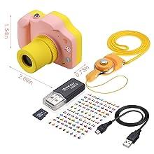 Amazon.com: TURN RAISE - Mini cámara digital para niños ...