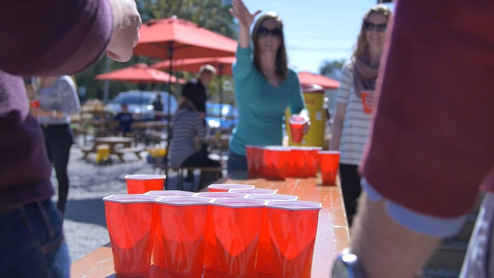 59e69920 Worlds Best Beer Pong Cup. Are you tired of having to tell someone to  straighten out the cups or ask them to move one back into place after it  shot across ...
