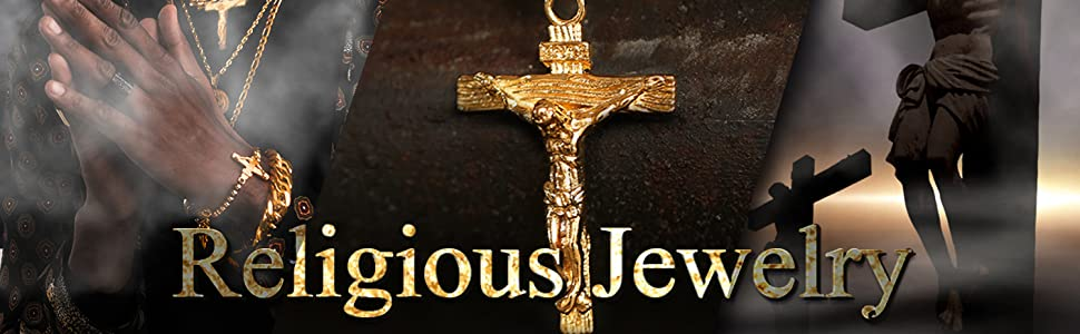 INRI Crucifix Cross Necklace Religious Jewelry for Men and Women