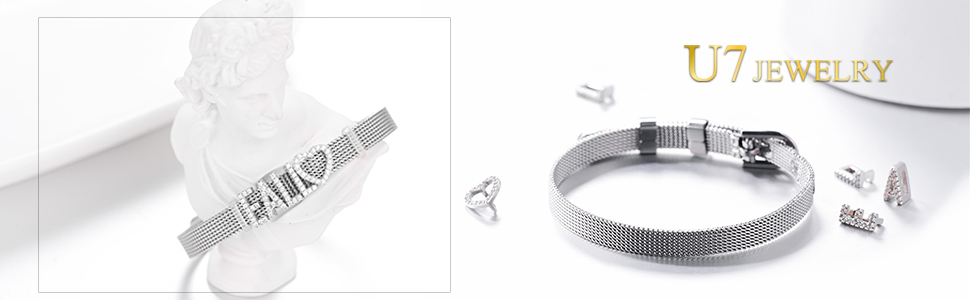 Custom Charm Belt Buckle Bracelet