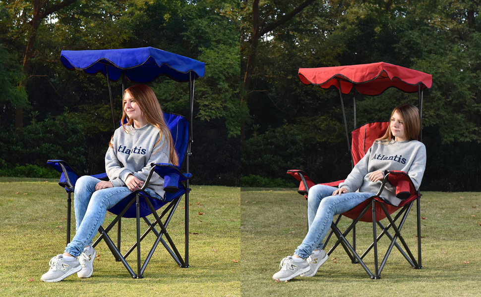 Awesome Alpha Camp Camp Chairs With Shade Canopy Chair Folding Camping Recliner Support 350 Lbs Squirreltailoven Fun Painted Chair Ideas Images Squirreltailovenorg