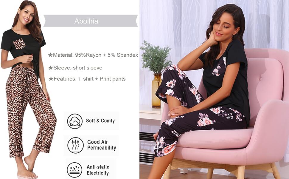Womens Capri Pajama Sets