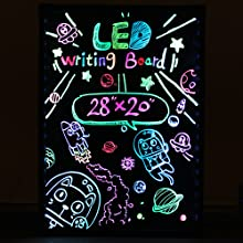 "Hosim LED Message Writing Board, 28"" x 20"