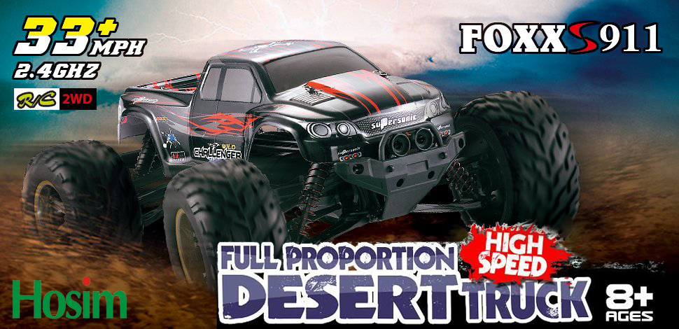 Hosim High Speed RC Off-Road Car 9112, 38km/h 1/12 Scale Radio Controlled  Electric All Terrain Car - 2 4Ghz 2WD Remote Control Monster Truck for Both