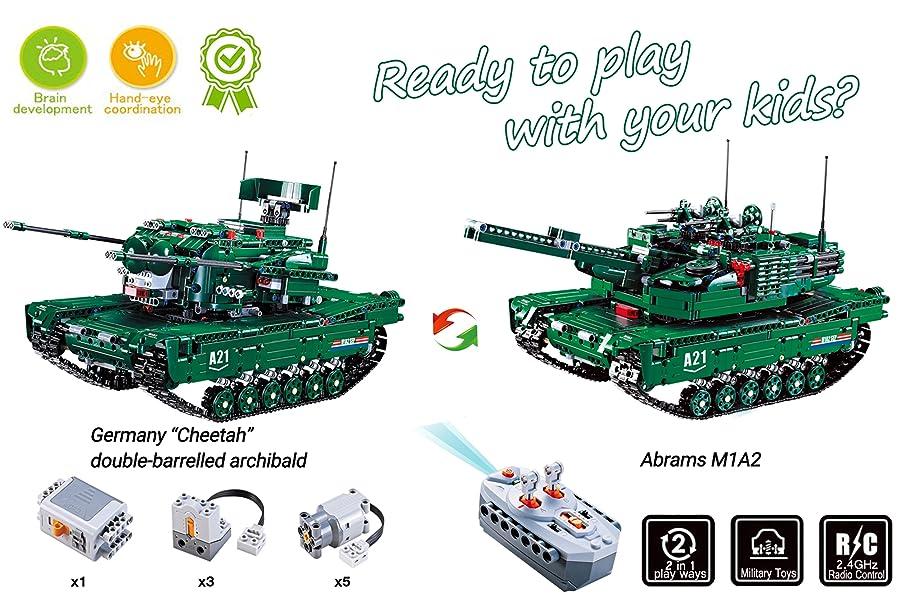Mua sản phẩm Hosim 1498pcs 2 in 1 RC Tank Building Blocks