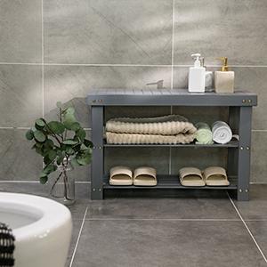 bathroom shelf
