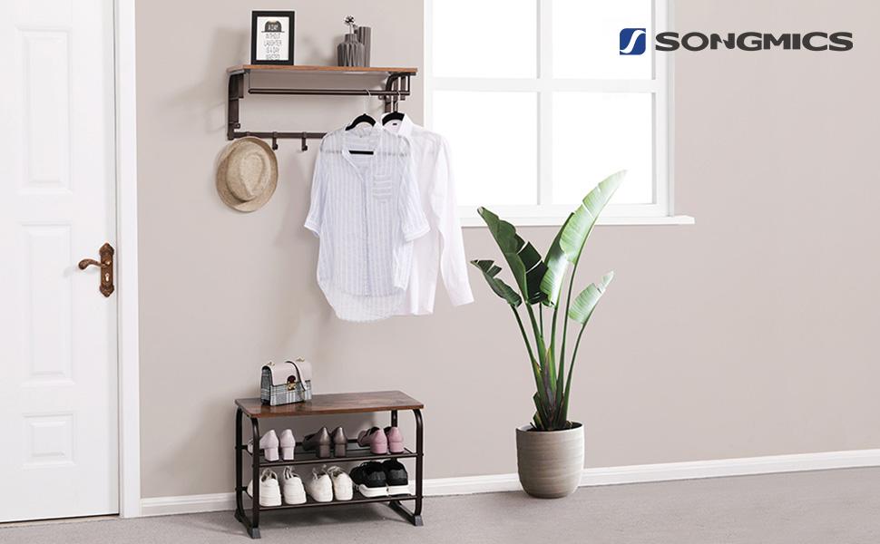 Amazon.com: Songmics flotante estantes de pared de mounted ...