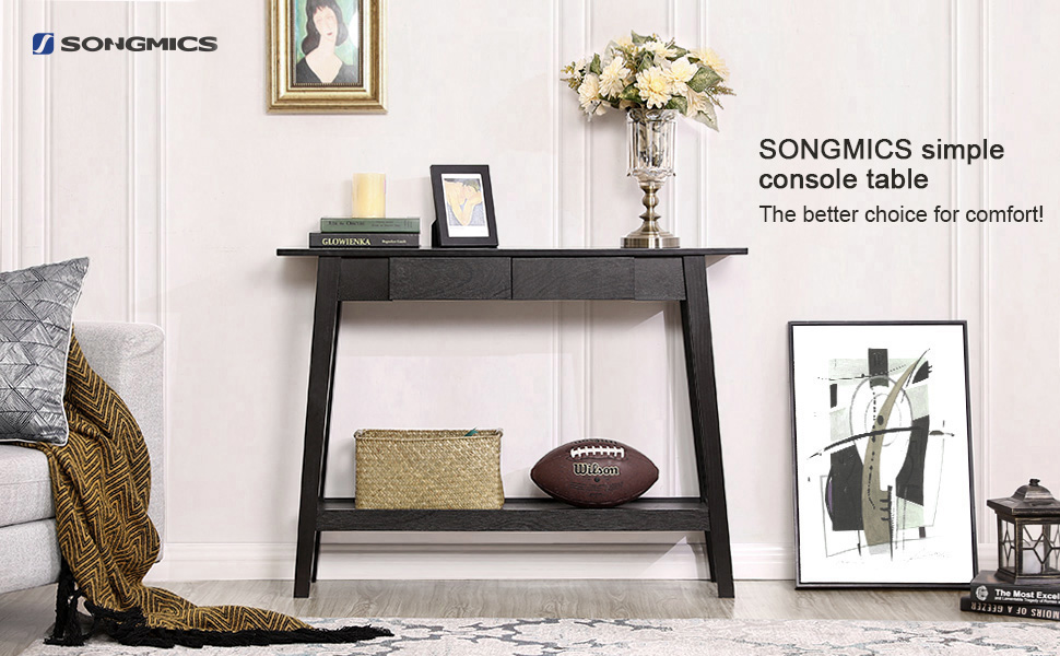 Amazon Com Songmics Wood Console Sofa Table Entryway Table With