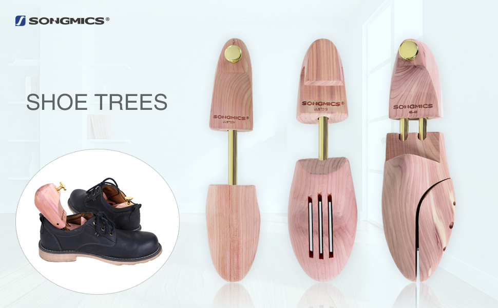 SONGMICS Adjustable Cedar Shoe Trees   Prolong The Life Of Your Shoes