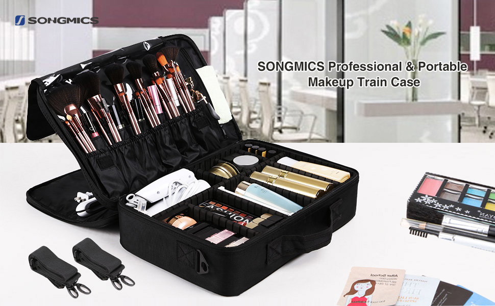 Our SONGMICS Portable Makeup Train Case Is A Must Have For Makeup Lovers,  It Is Not Huge, But Perfectly Decent For Personal Use. As A Professional  Makeup ...