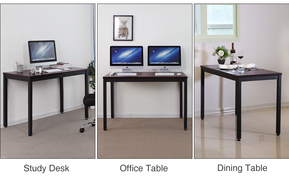 Whether you are a corporate employee working in a fancy building or a  freelancer working at home, this clean and simple SONGMICS desk is here for  you.