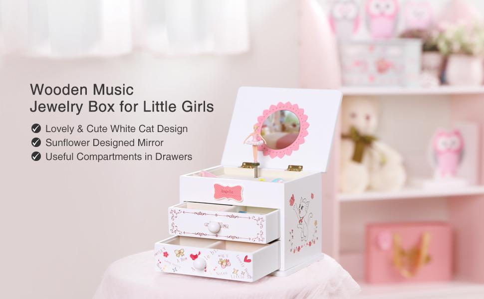 2b53723029b Amazon.com  SONGMICS Ballerina Music Jewelry Box for Little Girls ...