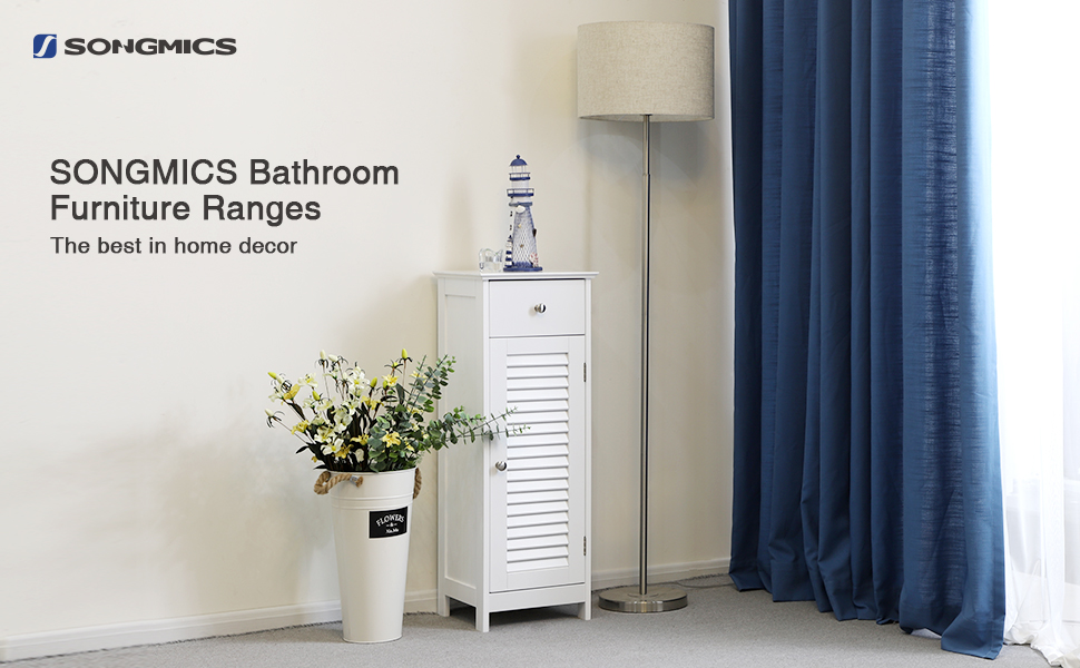Amazon.com: SONGMICS Bathroom Floor Cabinet Storage