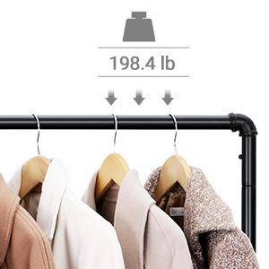 Amazon.com: SONGMICS - Perchero para ropa, estilo industrial ...