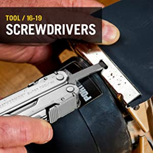 Leatherman super tools include four screwdrivers