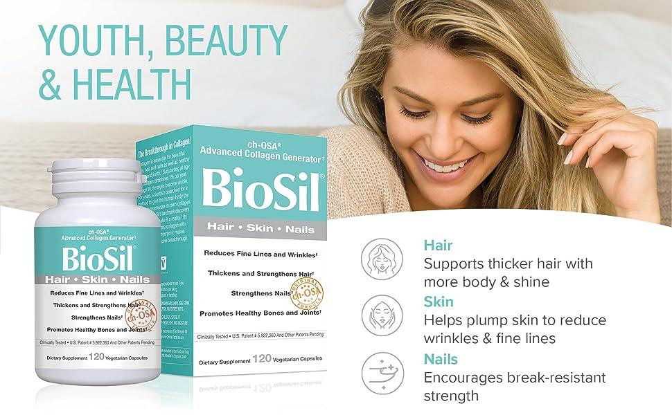 BioSil Hair, Skin, Nails 120 count