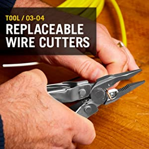Leatherman 831102 has replaceable wire cutters
