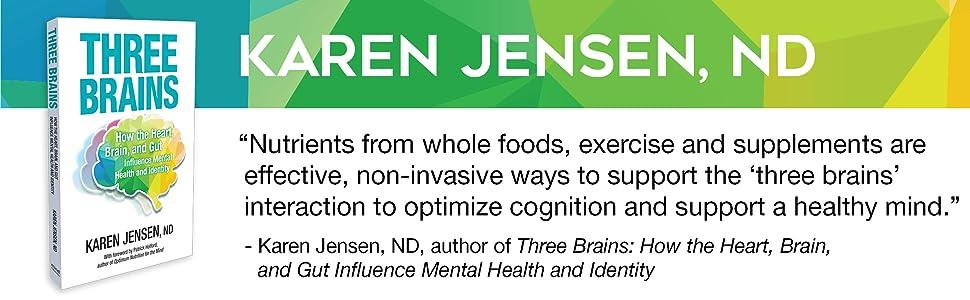 Three Brains Book by Karen Jensen, ND
