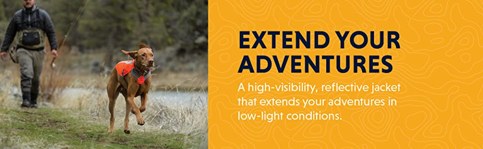 Extend your adventures, a high-visibility, reflective jacket that extends your adventures