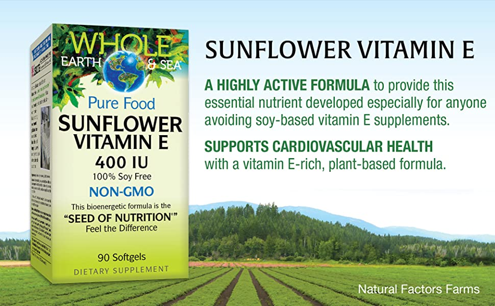 Sunflower Vitamin E, a highly active formula to provide this essential nutrient