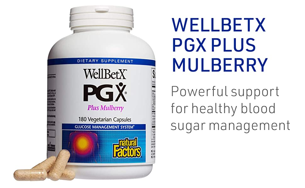 WELLBETX PGX PLUS MULBERRY powerful support for healthy blood sugar management