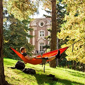 stay relaxed while studying or hang out with friends with eno u0027s array of lounging solutions  with products ranging from suspension chairs to hammock stands     amazon     eno eagles nest outfitters   profly rain tarp      rh   amazon