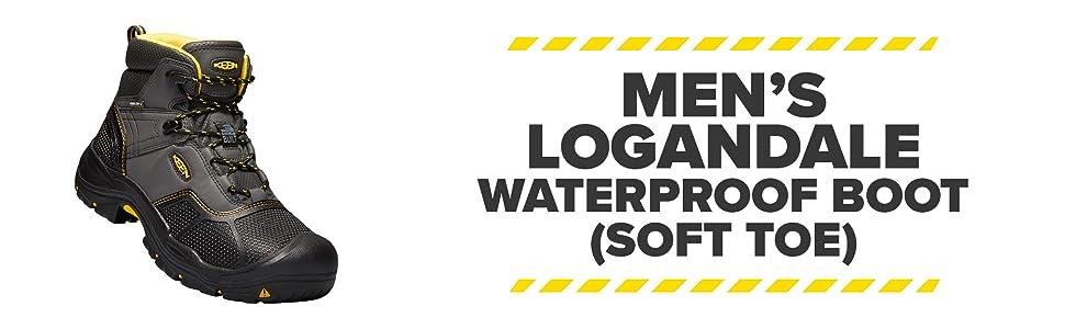 bc424385789 KEEN Utility - Men's Logandale (Soft Toe) Waterproof Work Boot