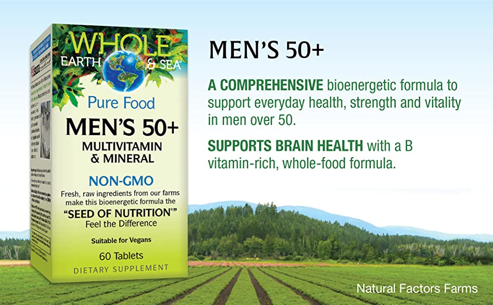 Best Whole Food Multivitamin 2021 Amazon.com: Whole Earth & Sea from Natural Factors, Men's 50+