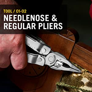 Leatherman Super Tool 300 features a needlenose and regular pliers