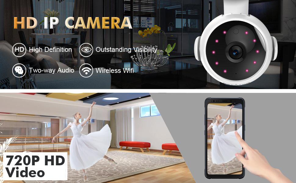 Amazon com : HC-RET 720P Wireless Wifi IP Security Camera, Home