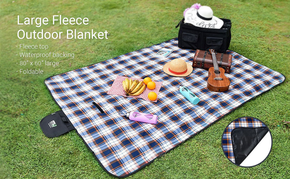 Sandproof and Waterproof Picnic Blanket Tote for Camping Hiking Grass Travelling MIU COLOR Large Waterproof Outdoor Picnic Blanket