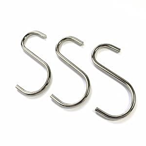 38mm Small Silver S Hooks 5X Strong Rust Resistant Tool//Utensil//Towel Hangers