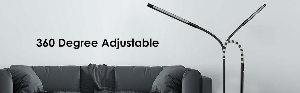 Joly Joy Floor Lamps For Living Room 12w Dimmable Flexible Gooseneck Standing Lamp Reading