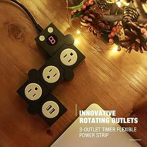 Amazon Com Jolyjoy Flexible Power Strip Surge Protector