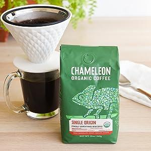 cold brew coffee beans chameleon whole bean organic arabica medium roast guatemala sweet cherries