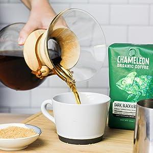 cold brew coffee beans chameleon whole bean organic arabica dark roast black bold sumatra indonesia