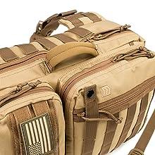 tactical sling backpack, tactical sling pack, sling day bag, sling survival pack, molle sling pack