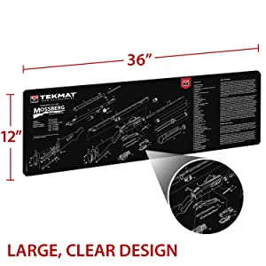 Amazon Com Tekmat Cleaning Mat For Use With Mossberg Shotguns Hunting Cleaning And Maintenance Products Sports Outdoors