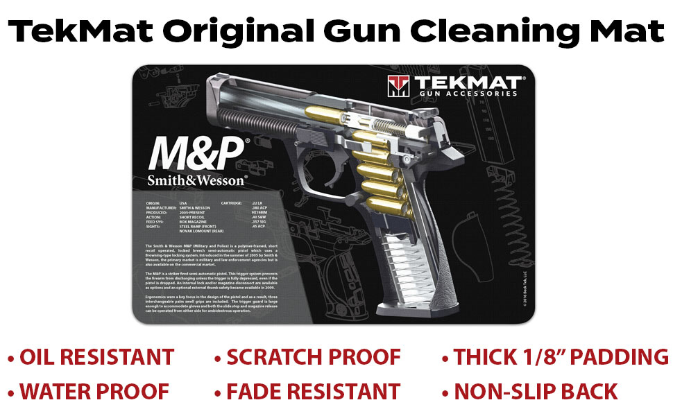 Amazon Com Tekmat Cutaway Mat For Use With Smith Wesson M P Sports Outdoors