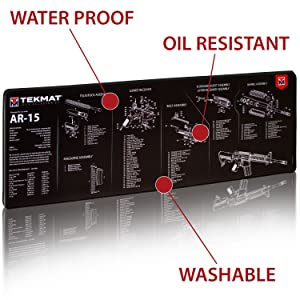 amazon com tekmat ar15 ultra premium gun cleaning mat 15\