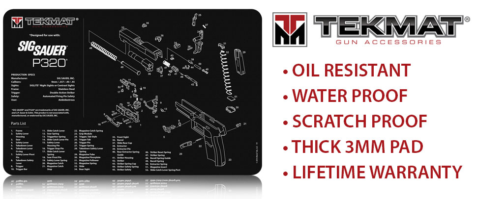 TekMat Cleaning Mat for use with Sig Sauer P320
