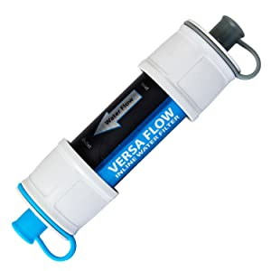 water filter, hydroblu, versa flow, camping, hiking, survivor, emergency, backpacking, travel, EDC