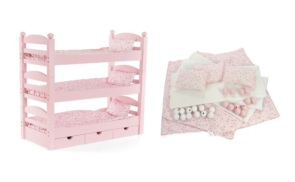 Amazon Com Emily Rose 18 Inch Doll Furniture 3 Single