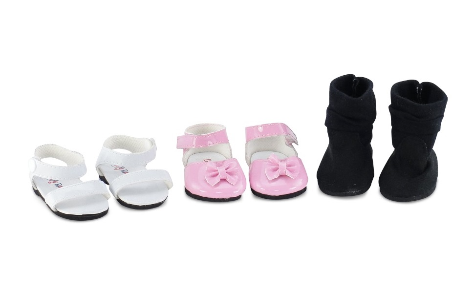 """Basic Black Slip On Shoes for 14.5/"""" American Girl Wellie Wisher Doll Clothes"""