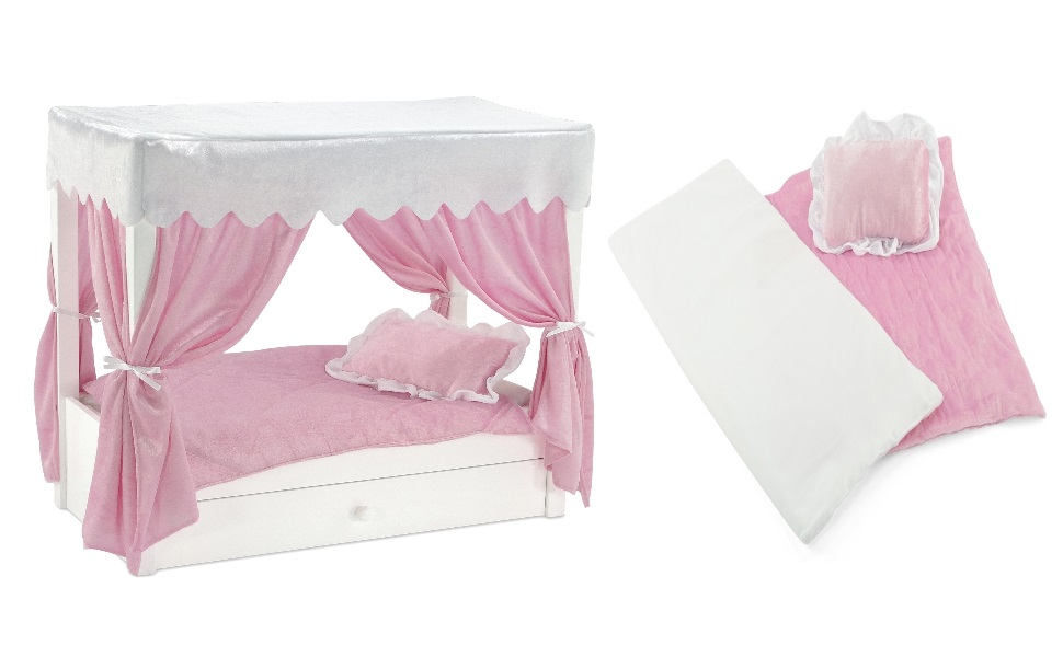 Boat Bed With Trundle And Toy Box Storage: Amazon.com: Emily Rose For American Girl Doll Canopy Bed