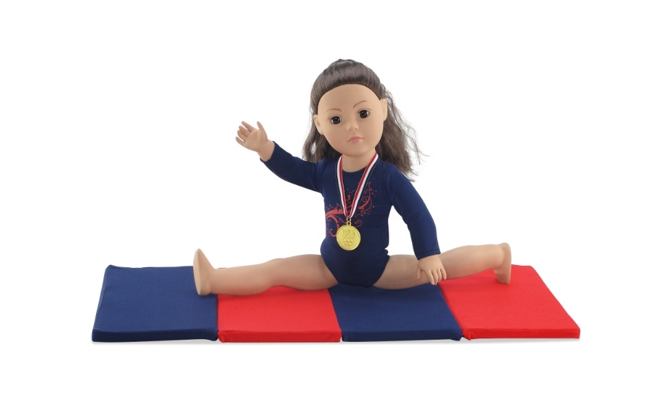 "Metallic Black Leotard Gymnastics made for 18/"" American Girl Doll Clothes"
