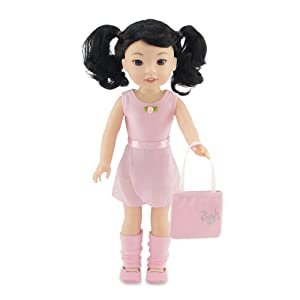 Photo of Ballet Practice Outfit on a 14 inch doll