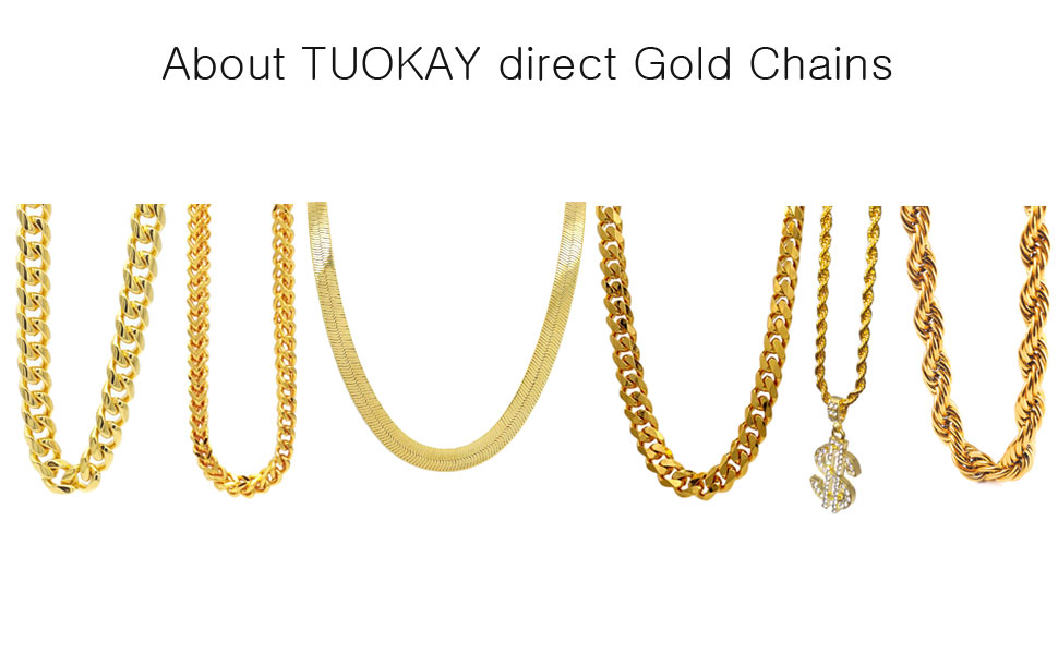 About TUOKAY direct 18K Gold Chains