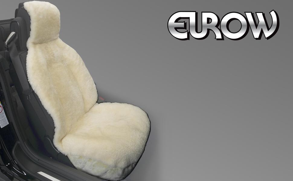 Eurow Genuine Australian Sheepskin Sideless Seat Cover - Champagne
