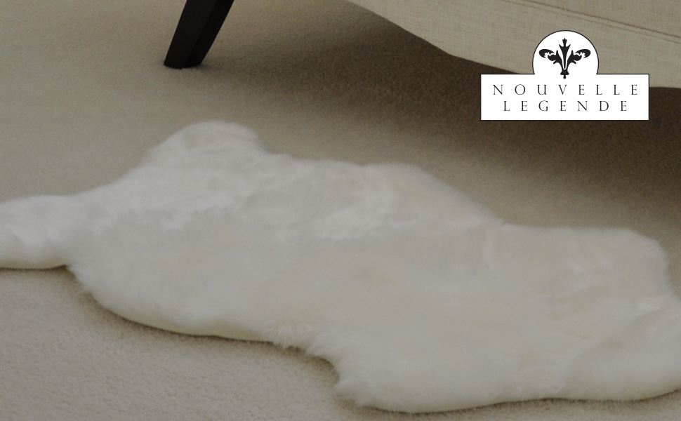 nouvelle legende faux fur sheepskin rug single 20 in x 36 in white features
